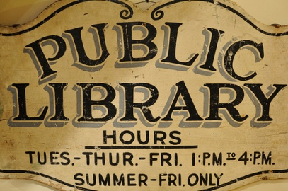 Old Public Library Sign